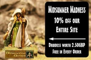 Midsummer Madness with ten percent off entire website plus free Druidess