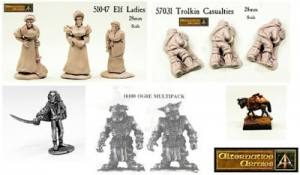 Elf Ladies and Trolkin Casualties now in resin plus free Elf Duellist and Offers