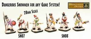 28mm Fantasy Snowmen our last two new releases for 2018