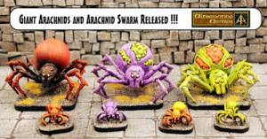 Giant Spiders and Spider Swarm for any scale now released!