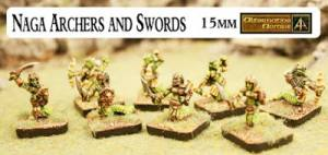 HOT 15mm Naga packs Swords and Bows now released!