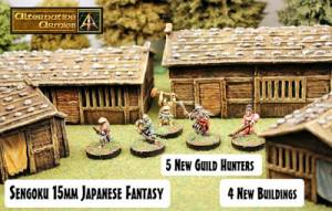 Guild Hunters and Four Buildings released for Sengoku 15mm Japanese Fantasy