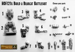 Build a Bear Cat – 15mm Battlesuit Parts selector released in the HOF Range!