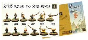 New 15mm Komosu and Sohei Monks plus free bolt on game for Sengoku