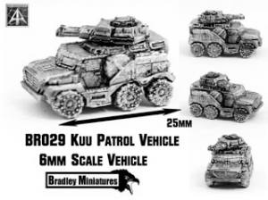 Kuu Patrol Vehicle new 6mm by Bradley Miniatures released