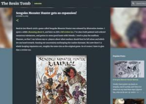 Resin Tomb blog looks at Sengoku Monster Hunter Rampage
