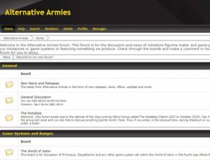 Alternative Armies new Forum is up and running