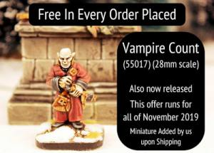 Free Vampire Count in every November order plus deals on packs this month