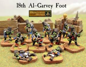 18th Foot Goblins and casualties released with free game insert for Flintloque