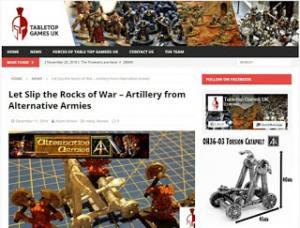 Tabletop Games UK reviews our 28mm Torsion Catapult