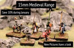 15mm Medieval Range new pictures and month long offer