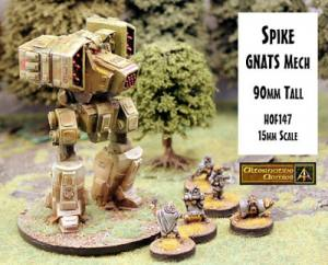 Spike GNATS Mech 90mm tall released with offer