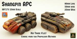Shangpin 15mm vehicles for the Xin released in six variants for The Ion Age