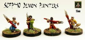 Demon Painters released in the Sengoku 15mm Japanese Fantasy range