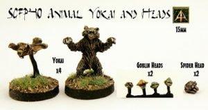 Yokai Animals and bits released in the Sengoku 15mm Japanese Fantasy range