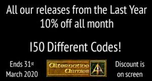 New Release page 150 different codes 10% off it all until reset on 1st April 2020