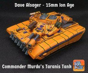 Dave Alsager and Commander Murdos 15mm Taranis Tank