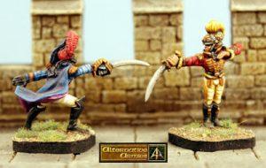 Ten different 28mm Elf Duellists now at Alternative Armies
