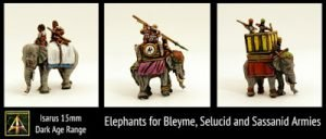 15mm Elephants for Blemye, Sassanid and Selucid return to Isarus range