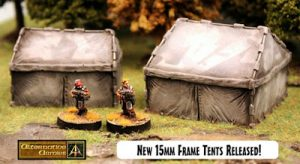 New Modern Tents 15mm scale now released!