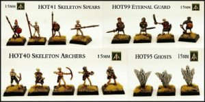 Skeleton Warriors and Ghosts return to the HOT 15mm Range