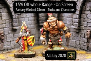 Fantasy Warlord range 15% off this month plus July News