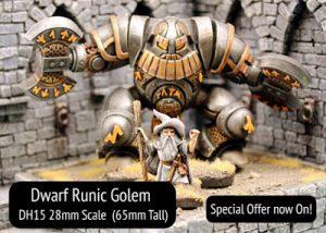 Dwarf Runic Golem - 65mm tall Warmachine