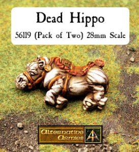 We promise he is just sleeping...56119 Dead Hippo released for Flintloque