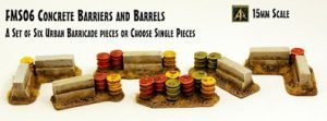 Concrete Barriers and Barrels new 15mm release