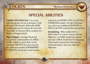 Preview of the Ogre Warband