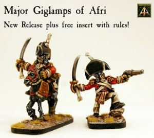 Major Giglamps foot and mounted released for Flintloque with free rules insert