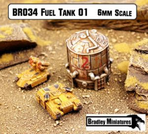 Fuel Tank 01 6mm new at Bradley Miniatures