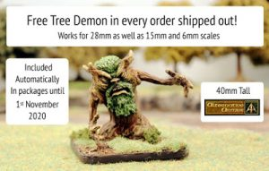 Tree Demon free in every October order at Alternative Armies
