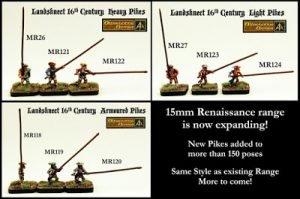 New 15mm Landsknecht Light Heavy and Armoured Pike