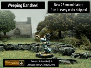 Brand new Weeping Banshee 28mm miniature free in every January order!