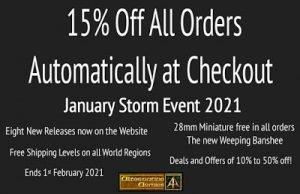 January Storm 2021 event at Alternative Armies