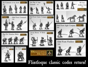 Twelve Classic Flintloque packs return new pictures and expanded