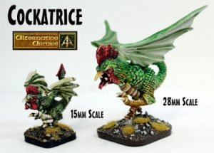 Cockatrice remastered in two scales at Alternative Armies