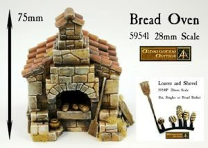Bread Oven 28mm scale and Loaves set released