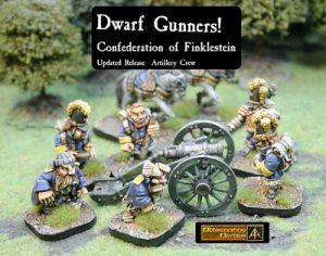 Finklestein Dwarf Gun Crew and Dwarf Messenger for Flintloque