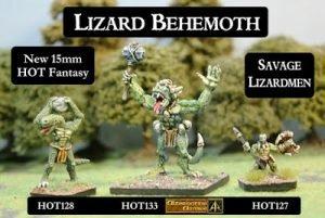 Lizardman Behemoth released HOT 15mm Fantasy Range