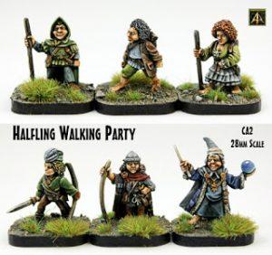 CA2 Halfling Walking Party 28mm returns