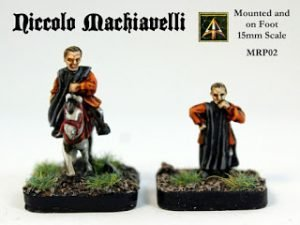 Niccolo Machiavelli on foot and mounted 15mm scale released