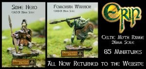 Erin Celtic Myth 28mm range returns to the website