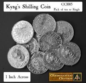 Take the Kyngs Shilling a coin returns for Flintloque