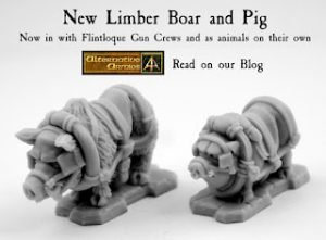 New 28mm Limber Boar and Limber Pig released