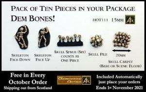 Dem Bones 15mm ten pack free in orders and October 2021 at Alternative Armies